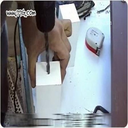 목재 연결을 숨길수 있는 총알볼트, 번데기 너트 사용법(동영상)