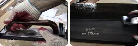 목재 고광택 처리방법, 가구의 완성도를 높이는 최종단계(동영상)