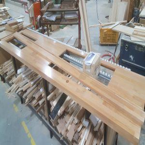 하드우드 원목상판  42mm(요트등급 친환경 제품)(오리나무) (2395*42*585)