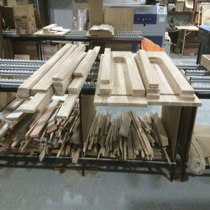 싱크대 ( 하부장1400 mm * 700 mm * 600 mm)(앨더오리나무(요트공법))(내부장 오크색)