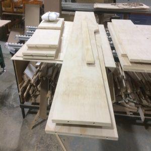 오픈 수납장 계단식 수납 변형 제작