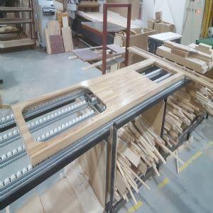 하드우드 원목상판  42mm(요트등급 친환경 제품)(물푸레) (2200*42*600)