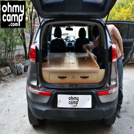 SUV 스포티지 내차로 세계여행을 위한 스포티지 캠핑카 입니다.