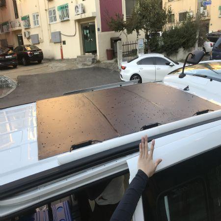 풍절음 없는 주행감을 위해 차에 어떻게 태양광 판넬을 부착시킬것인가?
