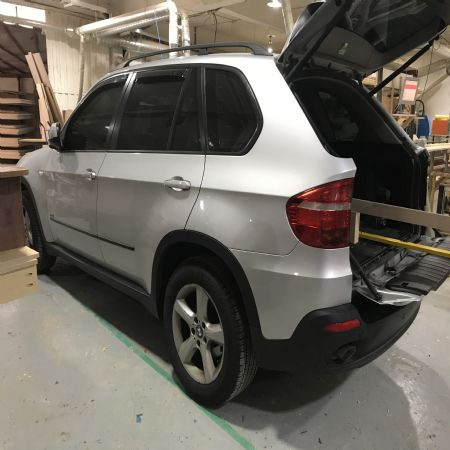 BMW X5 차박용 캠핑 캠퍼 개발중입니다.