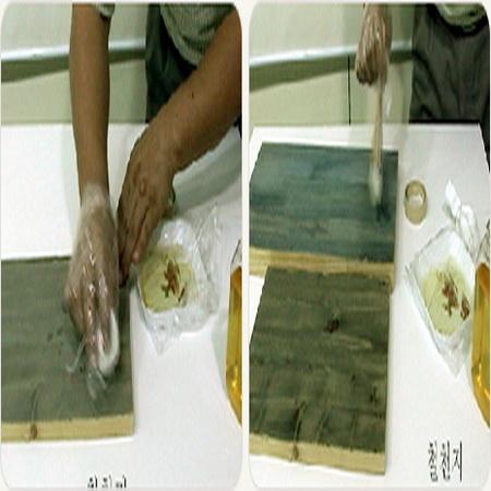 천연페인트 시공방법(3) 천연셀락 사용법 목재방수하기. (동영상)