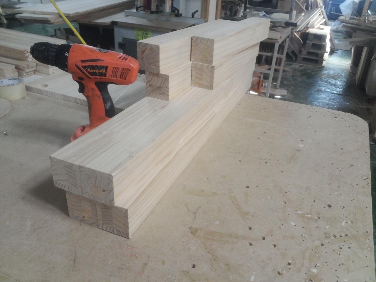 회원작품 - 철천지 - 소나무로 만든 베이직 침대