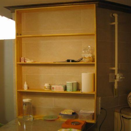 식탁옆 수납공간 만들기.