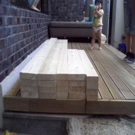 구조재로 2층 침대 만들기 성공사진