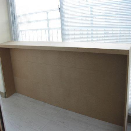 던에드워드 DE5753 suprema white로 칠한 베란다 테이블