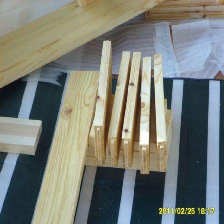 집성목으로 침대 만들기
