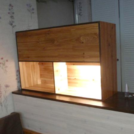 삼나무 12t 로 만든 현관 수납장