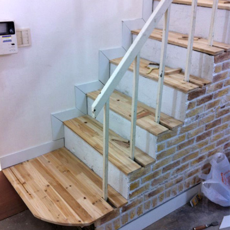 집꾸미기 (벽시공, 계단작업, 페인팅)