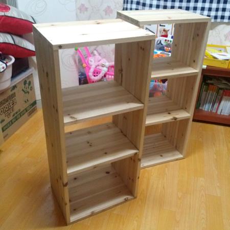 삼나무 간편 책장 만들기.
