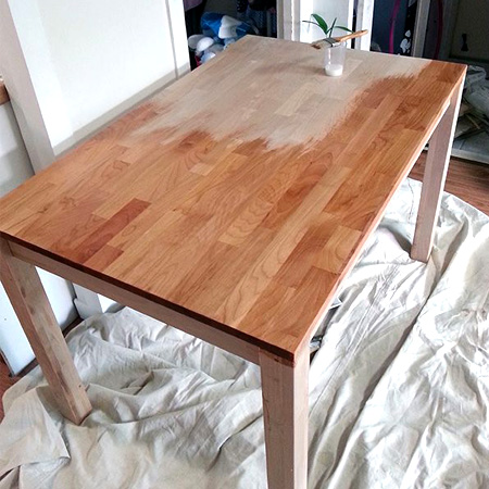 오리나무 식탁