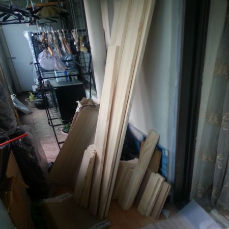 집성목으로 만든 침대 트레이