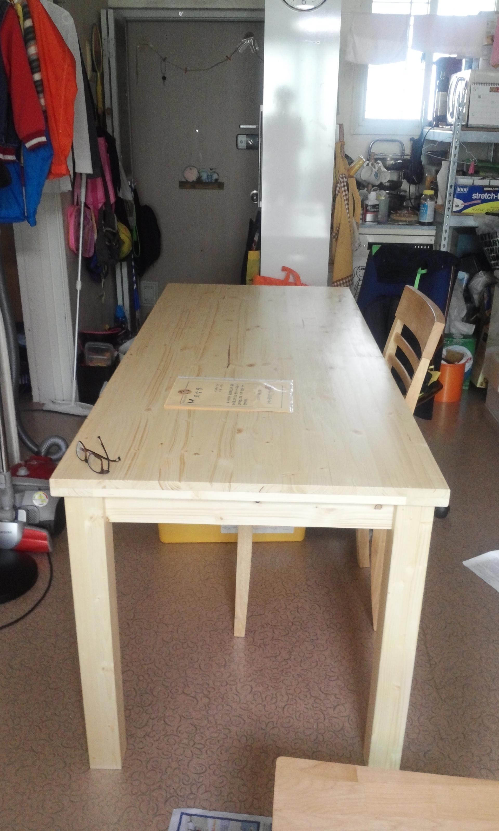 베이직 원목 식탁(스프러스) / DIY 전용 의자