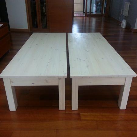 집성목 첫작품 T-테이블