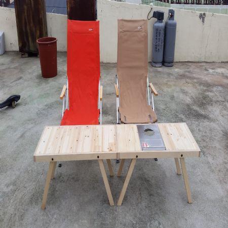 회원작품 - 철천지 - 절단나무로 만든 캠핑테이블