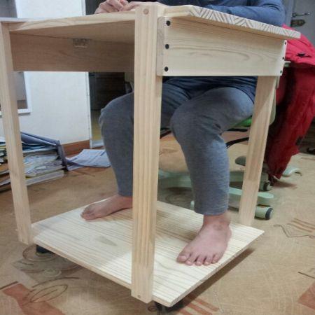회원작품 - 철천지 - 집성목 사이드 테이블 및 간이 책상 DIY