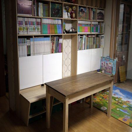 천연 원목 건강 트윈 서랍 책상
