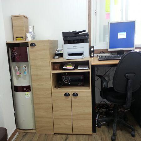 무늬목 합판으로 사무실가구 정수기정리대