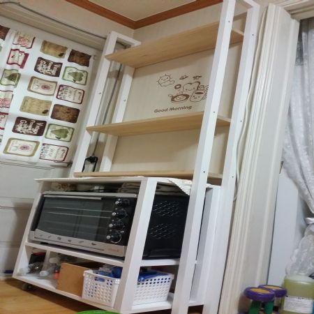 미송과 각목 코팅합판으로 만든 오븐장+책장