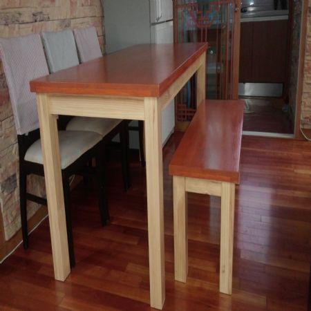 베이직 6인용 식탁과 벤치의자
