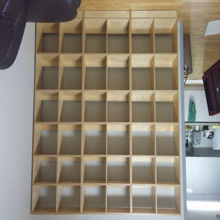 자작나무 합판으로 만든 거실용 대형 책장