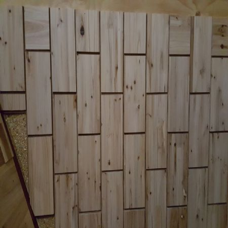 나무벽돌벽지