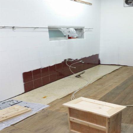 씽크대 교체작업 및 원목 식탁과 의자 조립