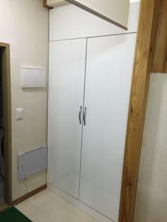 반조립 베란다장 문짝을 이용해 한옥집 출입구에 2단 수납장 만들기