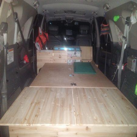 차 수납공간및 침상만들기