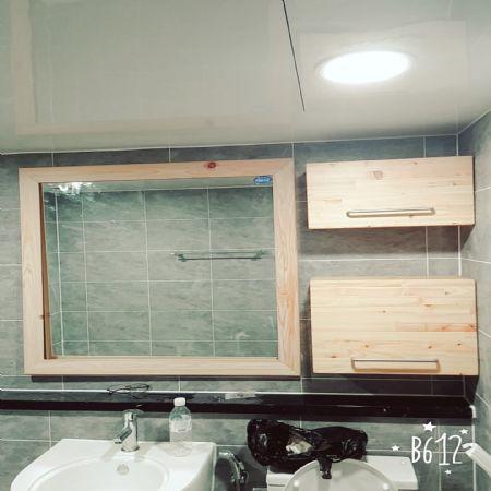 욕실 편백나무 수납장 만들기