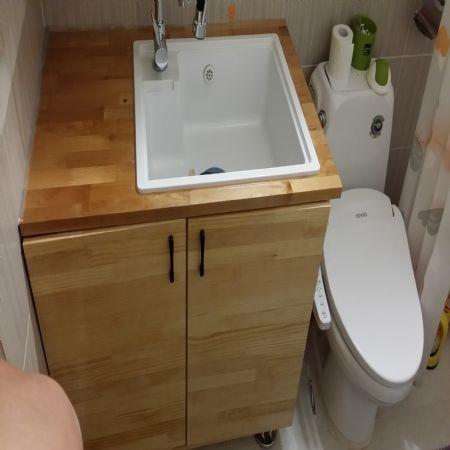 욕실에 씽크대 설치