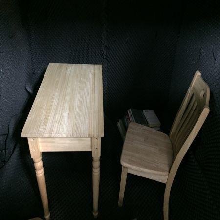 원목 책상, 의자 조립