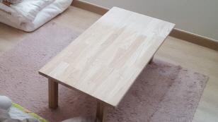 신혼가구 1탄! 물푸레나무로 만든 소파 테이블