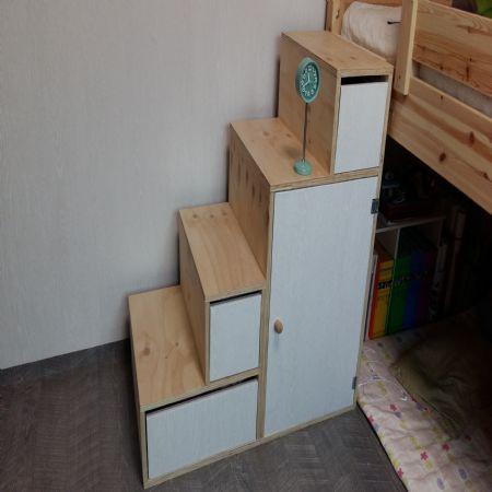 수납장겸 벙커침대 계단 만들기