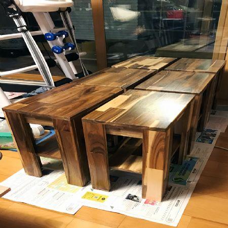 아카시아집성목을 이용한 협탁/사이드테이블 제작기