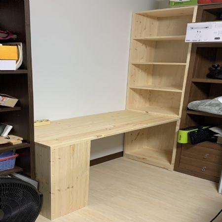 책장과 상판을 이용한 책상세트