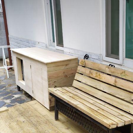 소나무(칠레산)12mm 에어컨 박스 및 수납장