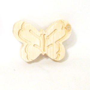 원목 나비 문양 소 손잡이 대용가능  두께(15mm)