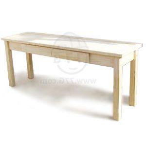 천연 원목 건강 트윈 서랍 책상(소나무) (1600*720*800)(샌딩)(1개)