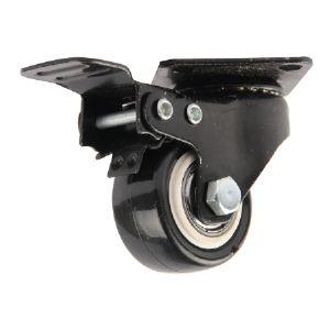 스톱 블랙우레탄 바퀴 (2인치)