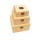 원목 사각 박스 대형 사과무늬