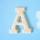 원목(150x150x14mm) 알파벳 이니셜(initial) 영문 대문자 A