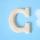 원목(150x150x14mm) 알파벳 이니셜(initial) 영문 대문자 C