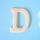 원목(150x150x14mm) 알파벳 이니셜(initial) 영문 대문자 D