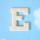 원목(150x150x14mm) 알파벳 이니셜(initial) 영문 대문자 E