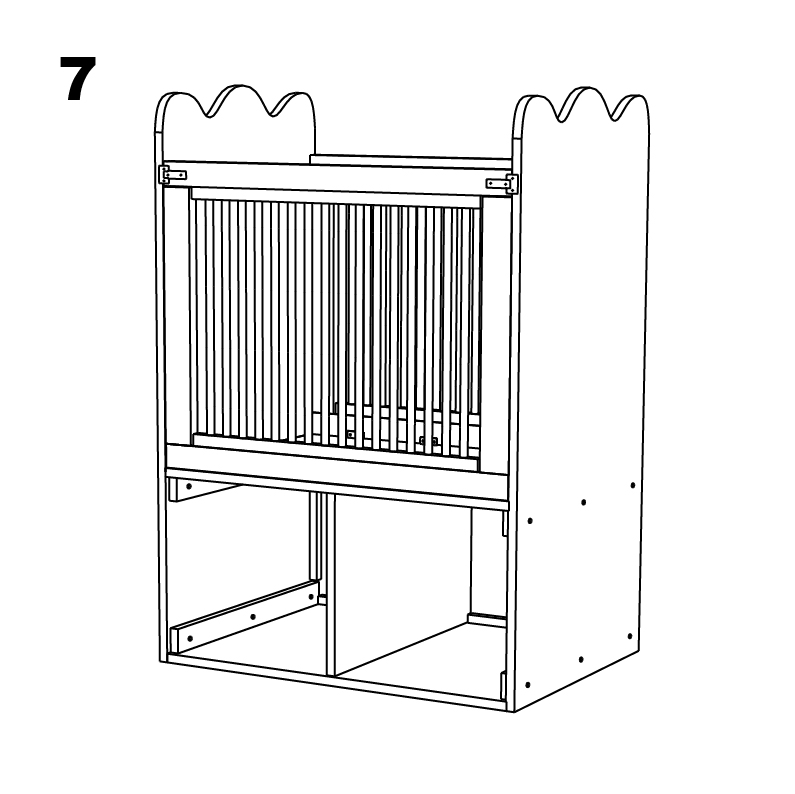 루돌프 유아용 침대 (수납기능) - 인터넷 최초의 철물점 & 목공소 ...